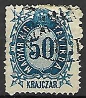 HONGRIE   -   Timbres - Télégraphe.   1874  .  Y&T N° 14 Oblitéré - Télégraphes