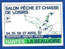 A.C 1987 NANTES La Beaujoire Salon PECHE Et CHASSE De LOISIRS - Stickers