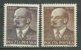 POLAND MNH ** 683-684 LENINE Amitié Polono Soviétique - Neufs