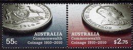 Australia - 2010 - Centenary Of Commonwealth Coinage - Mint Stamp Set - 2010-... Elizabeth II