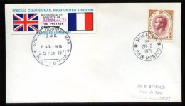 "SPECIAL COURIER MAIL  From UNITED KINGDOM - Février 1971 - Cachet ""MONACO - 26.2.1971 - 1952-.... (Elizabeth II)"