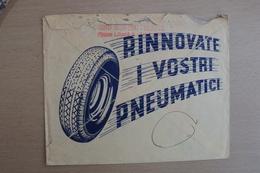 STORIA POSTALE ITALIA ITALY LETTERA ESPRESSO CON BELLA ILLUSTRAZIONE GOMMISTA GOMME PIRELLI GINO MONCINI TRIESTE - 1900-44 Victor Emmanuel III