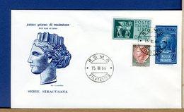 ITALIA - FDC FILAGRANO  1966  - SIRACUSANA - 6. 1946-.. Republic