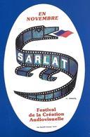 A.C. SARLAT Festival De La Création Audiov. Signé Carrier - Stickers