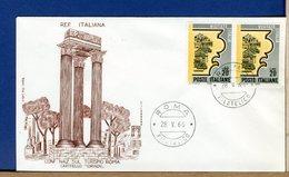 ITALIA - FDC  FILAGRANO  1966  - CONFERENZA A ROMA SUL TURISMO - 6. 1946-.. Repubblica