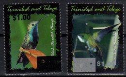 TRINIDAD AND TOBAGO, 2017, MNH, BIRDS,  HUMMING BIRDS, OVERPRINT, 2v , SCARCE - Kolibries