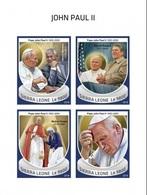 Sierra Leone 2018, Pope J. Paul II, Mother Teresa, 4val In BF IMPERFORATED - Mother Teresa