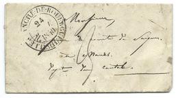 MP / VILLEFRANCHE AVEYRON 1840 POUR MAURS - Storia Postale
