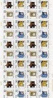 """DDR, 1985, Michel 2924/27, ZD-Bogen/10 Zusammendrucke, """"Historische Briefkästen"""" - Nuevos"""