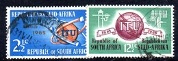T1763 - SUD AFRICA SOUTH 1965,   Serie Yvert N. 294/295  Usato . Itu - Sud Africa (1961-...)