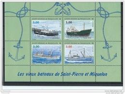 ST PIERRE ET MIQUELON 1996 - YT BF N° 5 NEUF SANS CHARNIERE ** (MNH) GOMME D'ORIGINE LUXE - Blocks & Sheetlets