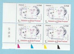 Coins Datés 2018 - Célestin Et Elise Freinet - 01.10.18 - Dated Corners
