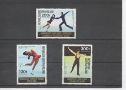 CENTRAFRIQUE - Jeux Olympiques D'hiver à Innsbruck (Autriche) - Vainqueurs : Dorothy Hamill, Alexandre Gorshkoy, John Cu - Central African Republic