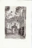 1955 - Pointe Sèche Originale De Charles SANSON - Prémontré (Aisne) - L'abbaye - FRANCO DE PORT - Estampes & Gravures