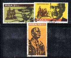 T1787 - SUD AFRICA SOUTH 1968,   Yvert  N. 313/315  Usato . Hertzog - Sud Africa (1961-...)