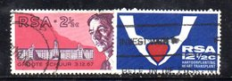 T1809 - SUD AFRICA SOUTH 1969,   Yvert  N. 320/321  Usato . Medicina - Sud Africa (1961-...)