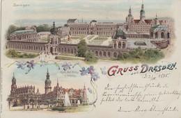 Litho Gruss Aus Dresden Zwinger Gel. 2.10.98 Bpst. - Dresden