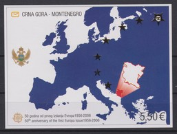 2380 Europa CEPT  Montenegro  50 Th Anniversary Of The First EUROPA Issue   Imperf . - Montenegro