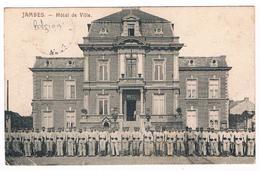 CPA : NAMUR JAMBES - Soldats Allemands Posant Devant L'Hôtel De Ville - Guerre 1914/1918 - Cachet Militaire Allemand - Namur