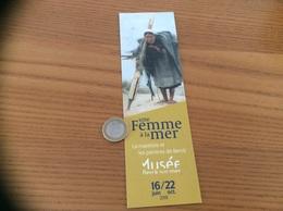 """Marque-page *** """"une Femme à La Mer - 2018 - Musée Berck-sur-mer (59)"""" - Marque-Pages"""
