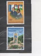 CENTRAFRIQUE - Visite Du Président Valérie GISCARD (France) - Bokassa Et Giscard, Drapeaux - Monument - Central African Republic
