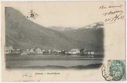 Islande Seydisfjord Cachet Convoyeur Paimpol à Guingamp Undivided Back Precurseur - Islanda