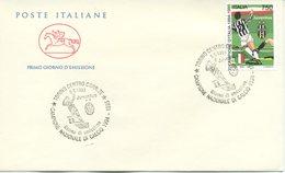 ITALIA - FDC  CAVALLINO 1995 -  JUVENTUS CAMPIONE - ANNULLO SPECIALE - SPORT - 6. 1946-.. Repubblica