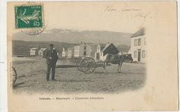 Islande Akureyri Charrette Islandaise  Undivided Back Precurseur Attelage Cheval Stamped From Paimpol - Islande