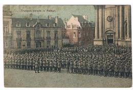 CPA Allemande : NAMUR Truppen Parade , Devant La Cathédrale St Aubain - Namur