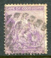 Cape Of Good Hope - South Africa - 1864-77 Seated Hope - Wmk. CC - 6d Violet Used (SG 25b) - South Africa (...-1961)