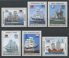 Corée Nord 1987  N° 1872/1873 PA 21/24 ** Neufs MNH Superbes C 21 € Bateaux Grands Voiliers Sailboats Ships - Korea, North