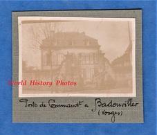 Photo Ancienne D'un Poilu - BADONVILLER ( Vosges ) - Poste De Commandement - 1916 1917 Ww1 Maison à Situer - Guerre, Militaire