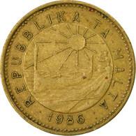 Monnaie, Malte, Cent, 1986, British Royal Mint, B+, Nickel-brass, KM:78 - Malta