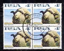 T2296 - SUD AFRICA SOUTH 1974, Yvert  N. 335  Quartina Usata . - Sud Africa (1961-...)