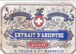 EXTRAIT D ABSINTHE SUISSE / FOLSCH ET CIE / MARSEILLE - Etiquettes