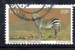 T2065 - SUD AFRICA SOUTH 1976, Yvert N. 408 Usato  Zebra - Sud Africa (1961-...)