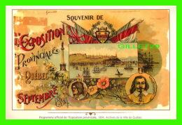 QUÉBEC - SOUVENIR DE L'EXPOSITION PROVINCIALE DE QUÉBEC EN SEPTEMBRE 1824 - ARCHIVES DE LA VILLE DE QUÉBEC - - Québec - La Cité