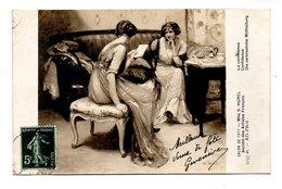 "ART . TABLEAU . Mlle S. HUREL . "" LA CONFIDENCE "" . SALON DE 1911 - Réf. N°18991 - - Pittura & Quadri"