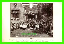QUÉBEC - ZITA D'AUTRICHE POSANT DEVANT LA CHAPELLE DU PARC VICTORIA EN 1947 - ARCHIVES DE LA VILLE DE QUÉBEC - - Québec - La Cité