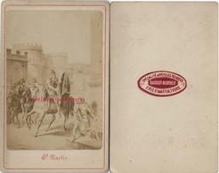 CDV Religion-saint Martin Coupant Son Manteau Pour Réchauffer Un Viel Homme- Par Barbot-Berruer à Tours - Oud (voor 1900)