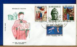 ITALIA -  FDC 1965  - DANTE ALIGHIERI Nato A FIRENZE - 6. 1946-.. Repubblica