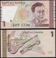 Kyrgyzstan P 15 - 1 Som 1999 - UNC - Kirghizistan