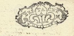 RARE 1704 AU RECTO BRETAGNE HUIT DENIERS  + SUPERBE CACHET AU VERSO TEXTE ET SIGNATURE VOIR SCANS - Cachets Généralité