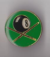 PIN'S THEME BILLARD  BOULE 8 - Billiards