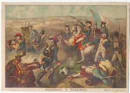 Fleurus  Bataille Jourdan Né à Limoges  Chromo 12 By 9 Cms . No Postcard Back - Fleurus