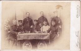 Kabinettfoto Von Soldaten -Photograph Hugo Form, Colmar, Winzenheimer Straße- - Guerre, Militaire