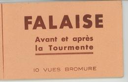 GUERRE 1914-18 - FALAISE Avant Et Après La Tourmente - Carnet Complet De 10 Cartes - Falaise