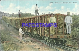 101829 CUBA COSTUMES TRAIN LOAD OF SUGAR CANE POSTAL POSTCARD - Postcards