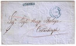 1862, Smyrna - Lloyd - Stp. Nach Konstantinopel,  #a1132 - Levant Autrichien