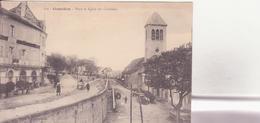 CPA - GOURDON Place Et église Des Cordeliers - Gourdon